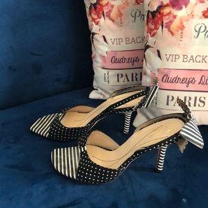 Kate Spade slingback open-toe heels